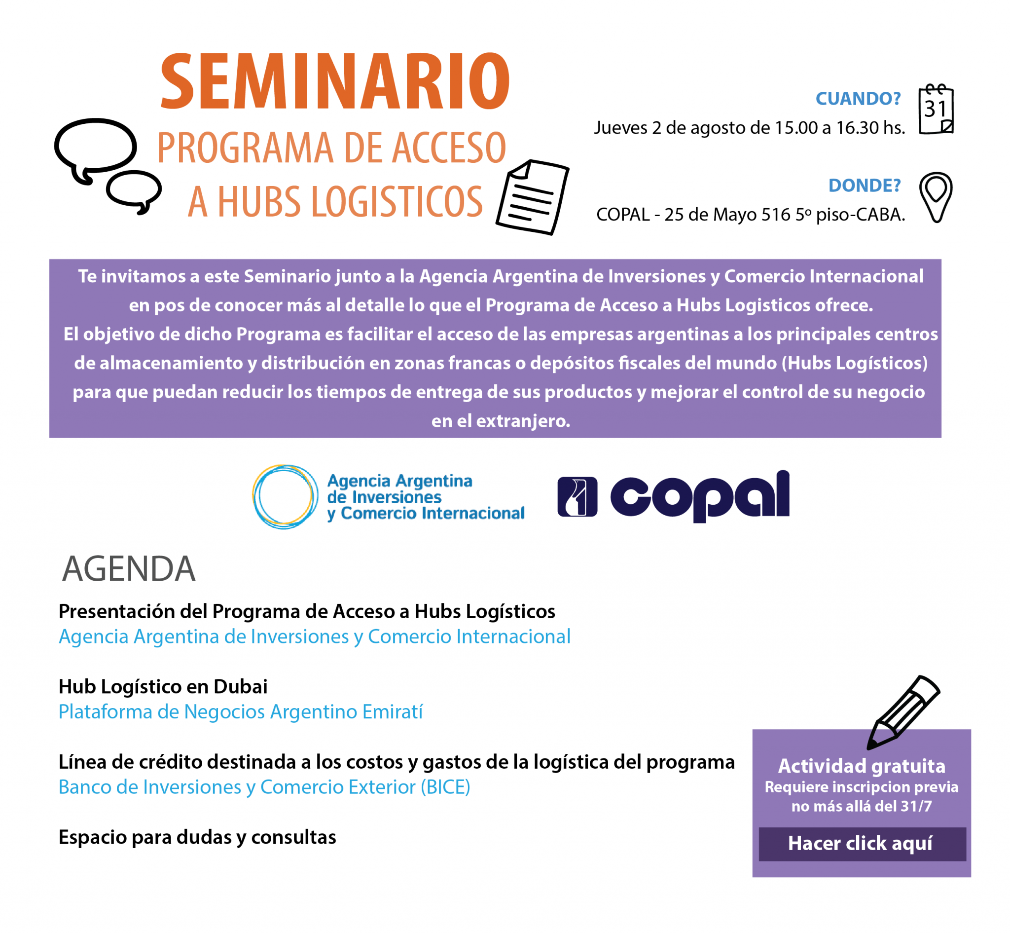 seminario_programa de acceso a Hubs Logisticos