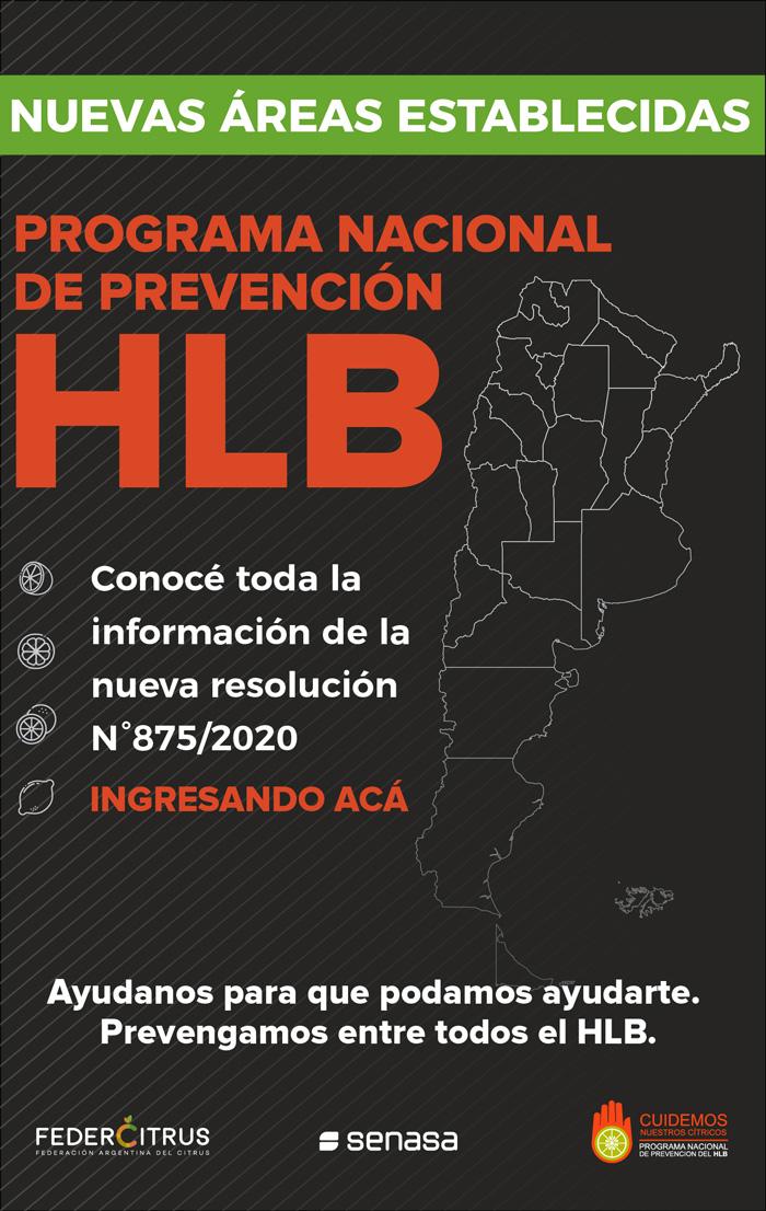 Novedades en el Programa Nacional de Prevención de HLB